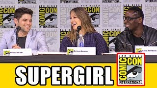 Supergirl Season 3 Comic Con 2017 panel news & highlights with Melissa Benoist, Chris Wood, Jeremy Jordan, Mehcad Brooks, Katie McGrath, David Harewood, Odette Annable, Jessica Queller & Robert Rovner.Subscribe for more! ► http://bit.ly/FlicksSubscribeN.B. Footage, clips, previews, trailers & sneak peeks shown at Comic Con panels are not included in this video, as these are not allowed to be filmed. RELATED VIDEOS--------------Supergirl Season 3 Comic Con Panel Part 1 ► http://youtu.be/StOs-GxkwB0Supergirl Season 2 Easter Eggs ► https://youtu.be/cc6J-6x-TtsThe Flash Season 4 Comic Con Panel ► http://youtu.be/5TueDxwTYacArrow Season 6 Comic Con Panel ► http://youtu.be/MpUM3nUV4cULegends of Tomorrow Season 3 Comic Con Panel ► http://youtu.be/_otrQqwg1uIBlack Lightning Comic Con Panel ► http://youtu.be/1T2soIcCA6IPLAYLISTS YOU MIGHT LIKE------------------------DC ► http://bit.ly/DCVideosMarvel ► http://bit.ly/MarvelVideosFox Marvel Movies ► http://bit.ly/FoxMarvelVideosMovie Deleted Scenes & Rejected Concepts ► http://bit.ly/MovieDeletedScenesEaster Eggs ► http://bit.ly/EasterEggVideosAmazing Movie Facts ► http://bit.ly/ThingsYouDidntKnowVideosPixar ► http://bit.ly/PixarVideosDisney Animation ► http://bit.ly/DisneyAnimationVideosStar Wars ► http://bit.ly/StarWarsVidsSOCIAL MEDIA & WEBSITE----------------------Twitter ► http://twitter.com/FlicksCityFacebook ► http://facebook.com/FlicksAndTheCityGoogle+ ► http://google.com/+FlicksAndTheCityWebsite ► http://FlicksAndTheCity.comThanks to Comic Con International http://www.comic-con.org/Ridding National City of Queen Rhea and her Daxamite army was a major win for Supergirl but one that came at a significant cost, as Kara was forced to sacrifice her budding relationship with Mon-El. When the show returns with all-new supercharged adventures this fall on The CW, Kara and team will come up against a new threat in the form of DC Comics's Worldkiller, Reign. Want to know more about Reign and what she has in store for the Girl of Steel? Join the series' cast and creative team for a special video presentation followed by a discussion of the new season. From Berlanti Productions in association with Warner Bros. Television, Supergirl' s third season will debut Monday, October 9 at 8/7c on The CW. Supergirl: The Complete Second Season is available now on digital and will be released on Blu-ray and DVD on August 22.