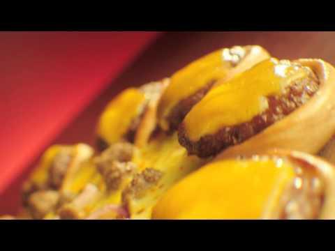 Pizza Hut Cheeseburger Golden Crown Crust Pizza