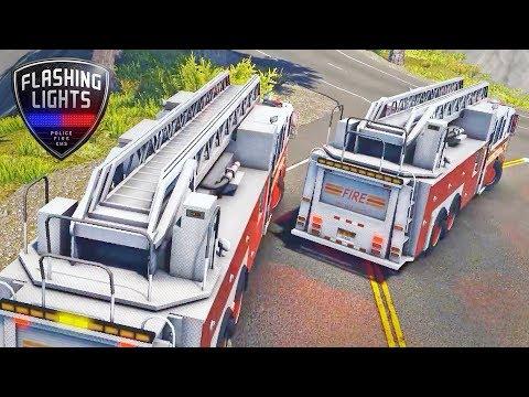 Flashing Lights - Drifting Firetrucks!