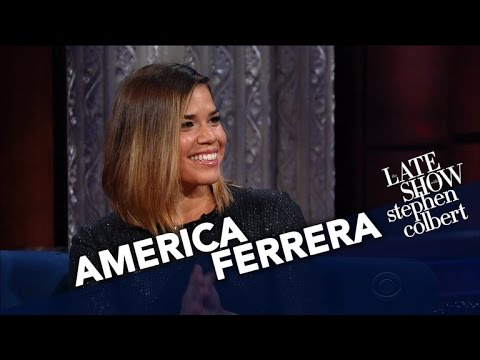 America Ferrera And Stephen Play 'Attention Shoppers'