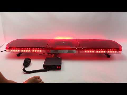 BRRAL LED EI907-80W CON SIRENA DE 100W FEDERAL 7 TONOS ROJO BOMBEROS