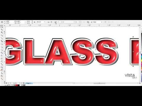 Glass Text Effect, Embossing In Corel Draw,