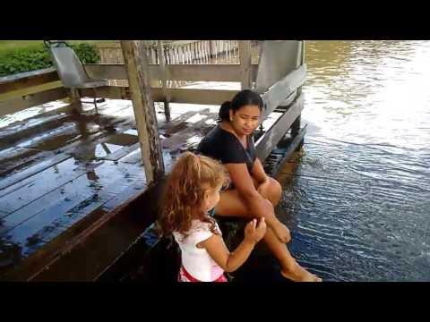 Aleandro Natércia e Isabelly no Balneário Parati em vista alegre do Abunã