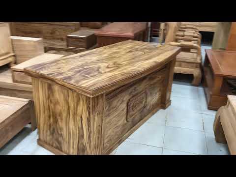 Bàn giám đốc gỗ Hương Xám cao cấp