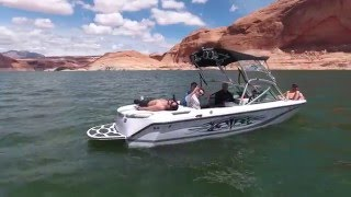 DJI Phantom 4 drone footage of Lake Powell (Bullfrog). May 2016.
