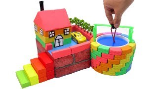 Video DIY How To Make Wells Villa with Shape It Sand, Car Toys and Learn Colors MP3, 3GP, MP4, WEBM, AVI, FLV Maret 2019