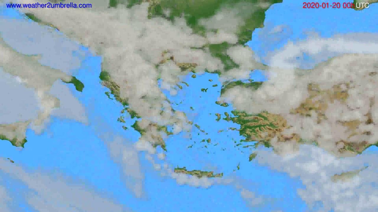 Cloud forecast Greece // modelrun: 00h UTC 2020-01-19