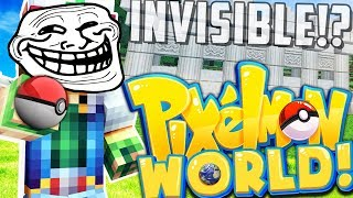 THE INVISIBLE WALL PRANK ON TEAM MAGMA!? - PIXELMON WORLD #24