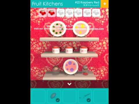 Video Walkthrough Fruit Kitchens 22 Raspberry Red Pug Room Escape