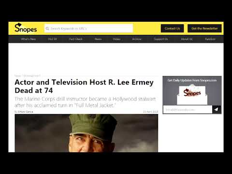 Remembering R Lee Ermey RIP