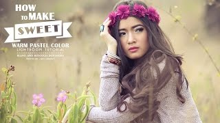Lightroom Tutorial: Blend And Retouch Sweet Warm Color Effect