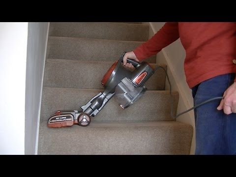 Shark Rocket Hand Held Vacuum Cleaner Stair and Upholstery Cleaning Review & Demo