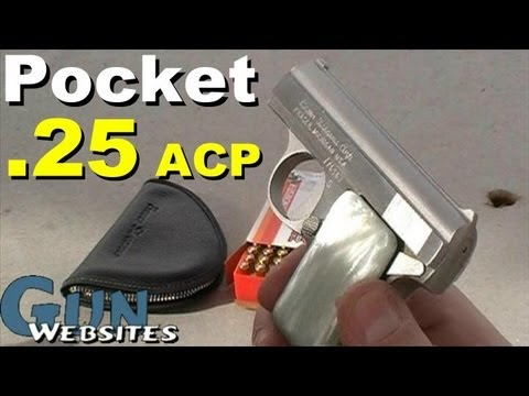 acp - Shooting the Bauer .25 acp Pocket Pistol A stainless steel version of the Browning Vest Pocket Pistol invented for the .25 acp cartridge TheYankeeMarshal·- M...