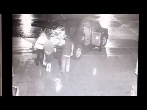 Green Bay Police Department release surveillance video of family and others pulling up and stealing from St. Vincent de Paul.
