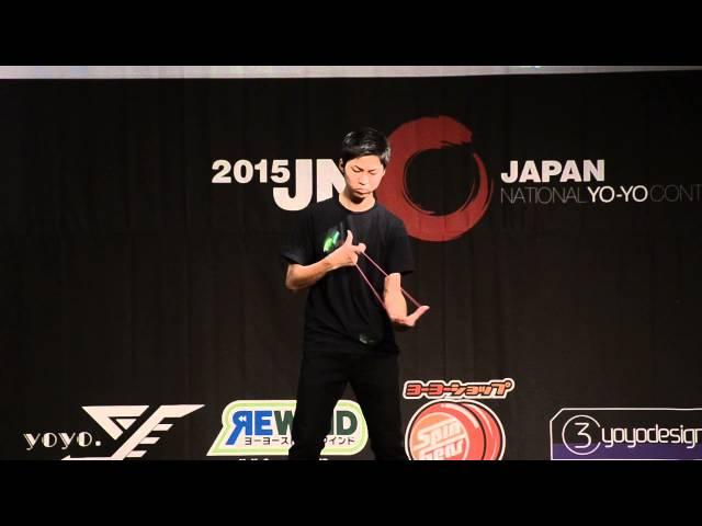 C3yoyodesign present JN 2015 1A Final Champion Takeshi Matsuura