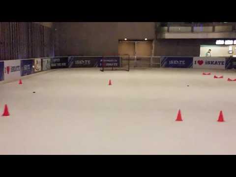 Ice hockey drill #ashishiskate #india