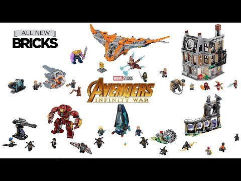 Lego Marvel Super Heroes Avengers Infinity War Compilation of All Sets Lego Speed Build