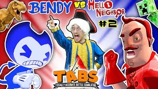 HELLO NEIGHBOR BEDTIME STORY Pt 2: TABS COMPETITION - BENDYS vs. MART w/ MINECRAFT (FGTEEV:THE END)