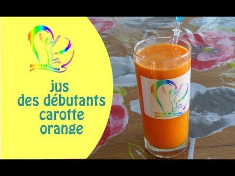 Jus de carotte pour débutant