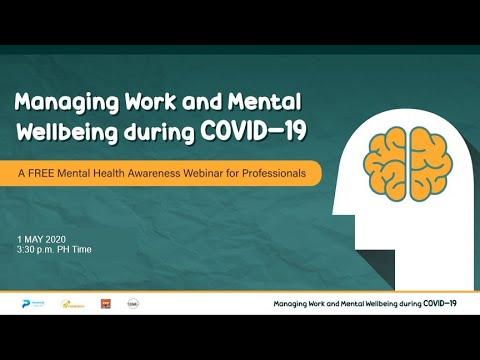 #PREMIEREWorkAndWellbeing Webinar | Managing Work and Wellbeing During COVID-19