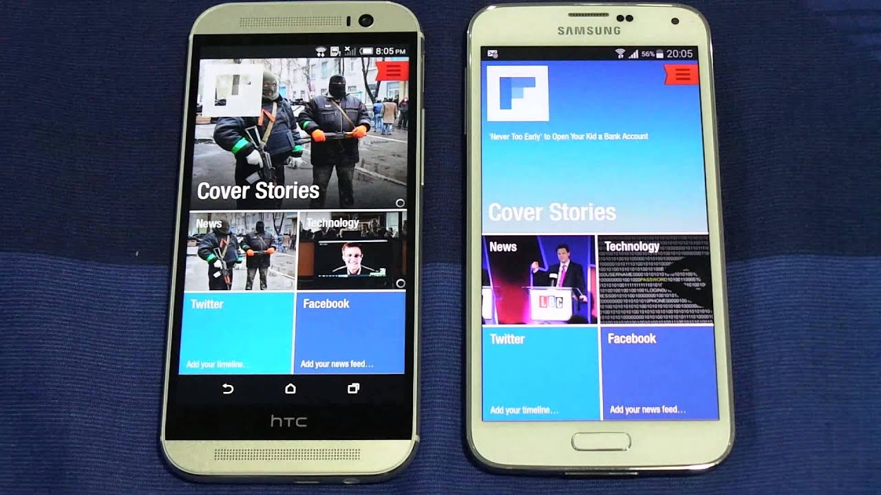 Descargar Htc One M8 Vs Samsung Galaxy S5 Opening Apps & Multitasking Speed para Celular  #Android