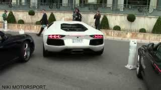 CRASH AT 0:37 I recorded a valet parking a stunning Aventador in front of the Hotel de Paris in Monaco. When the car was...