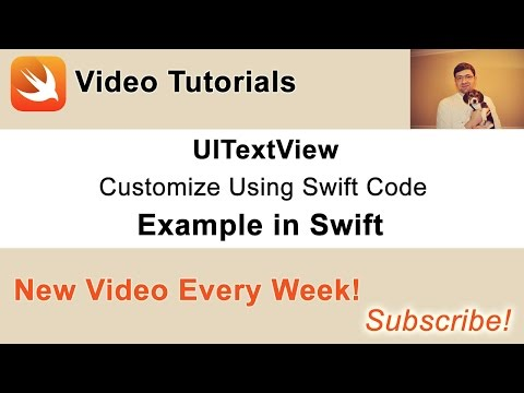 UITextView Example In Swift. Customize TextView Using…