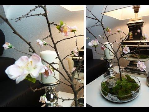 DIY: Deko für den Tisch mit selbst gebasteltem Kirschblütenzweig | Deko Kitchen