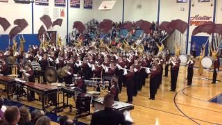 2014 Arlington School Marching Band and Color Guard at Danbury