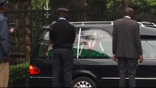 Body of late Mama Lucy Kibaki arrives at Lee funeral home