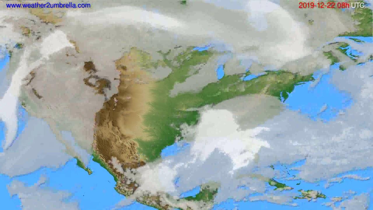 Cloud forecast USA & Canada // modelrun: 12h UTC 2019-12-21