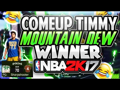OMG COMEUP TIMMY WON UNLIMITED BOOST MOUNTAIN DEW!!??! NBA 2K17 (THE LIFE OF A TRASH BROWN SHIRT #8) (видео)