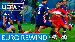 Download Video EURO 2008 highlights: Turkey beat Croatia on penalties MP3 3GP MP4