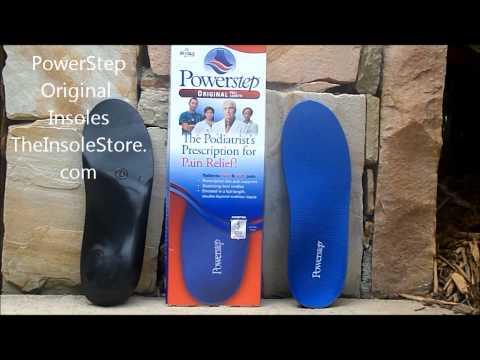 Powerstep Original Insoles & Orthotics Review @ TheInsoleStore.com