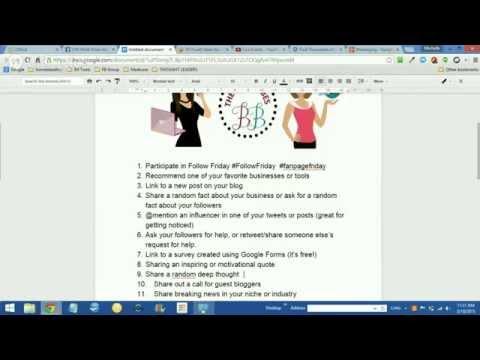 Social Media Tips – The Blog Babes – Free Training
