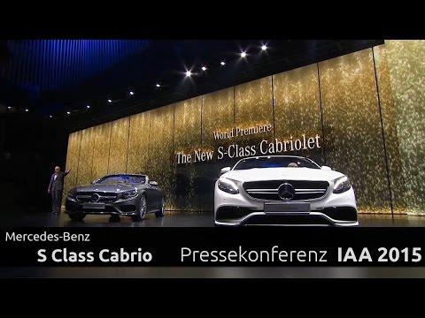 Dr. Dieter Zetsche und das S-Class Cabrio Mercedes-Benz Pressekonferenz IAA 2015