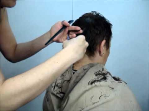 Corte en cabello corto