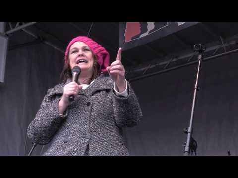 Senator Sara Gelser speaking at Women's March on Washington: Portland