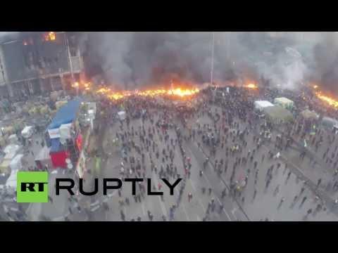 Ukrajinski protesti iz zraka