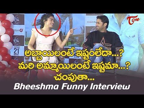 Nithiin & Rashmika Funny Interview @ Bheeshma | Valentine's Day Special | TeluguOne Cinema