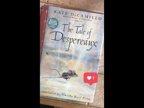 """""""The Tale of Despereaux,""""  Chapters 1-4  Book The First: A Mouse is Born. (Read by Tony M. Music)"""