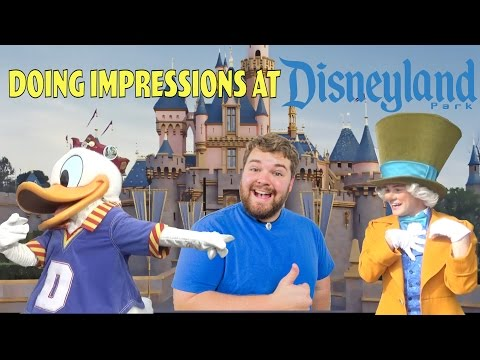 Guy Does Disney Impressions for Characters at