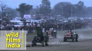Ludhiana India  city images : Tractor racing competition at Rural Olympics - Ludhiana, India
