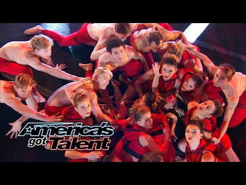 America - AcroArmy perform an acrobatic dance accompanied Blink-182 drummer Travis Barker. Check out this powerful performance! » Subscribe: http://full.sc/IlBBvK » Full Episodes: http://www.nbc.com/ameri...