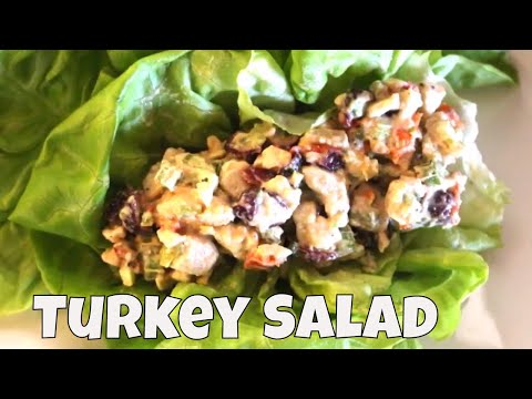 Low carb diet - Low Carb Turkey Salad Lettuce Wraps With Linda's Pantry