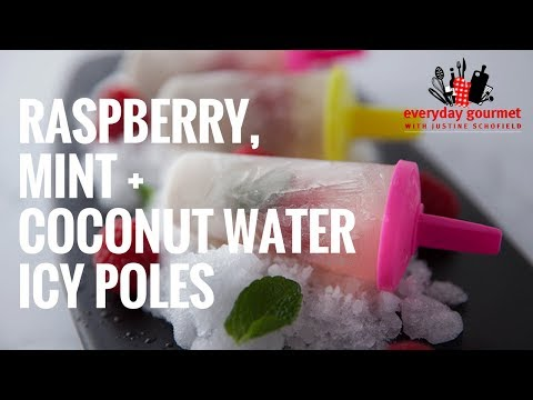 Blackmores Raspberry, Mint, and Coconut Water Icy Poles | Everyday Gourmet S6 E61