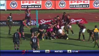Varsity Cup 2014 highlights, Round 1 NMMU vs Maties