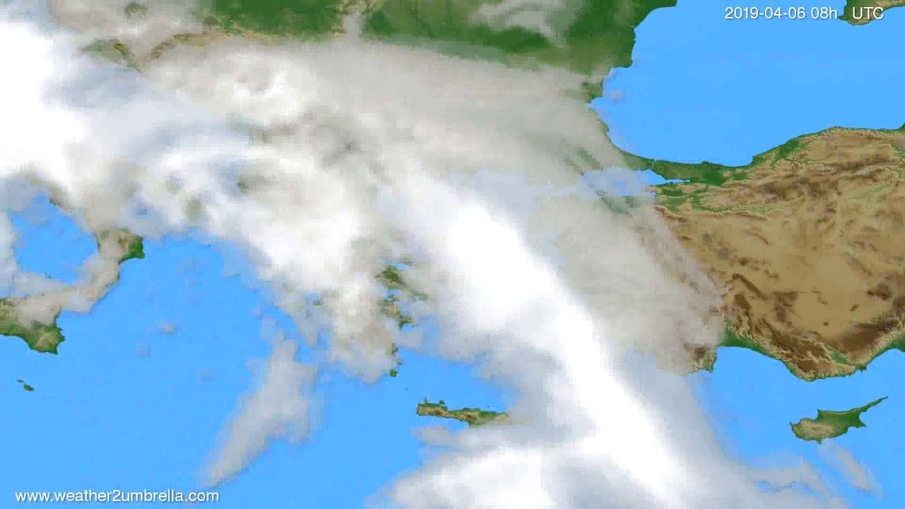 Cloud forecast Greece // modelrun: 12h UTC 2019-04-02