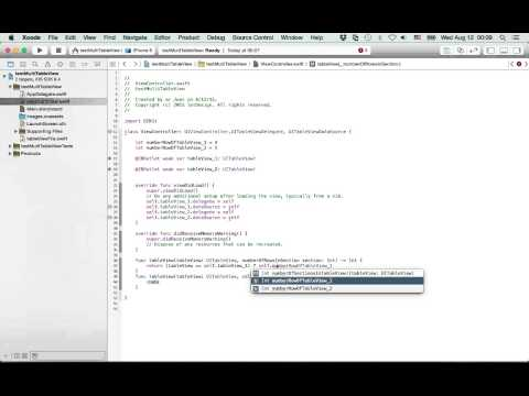 IOS Swift Tutorial: Multiple Tableview In Swift