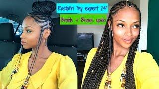 "Video Braids & Beads Updo with ""My Expert 24"" RASTAFRI Kanekalon hair MP3, 3GP, MP4, WEBM, AVI, FLV Juni 2018"